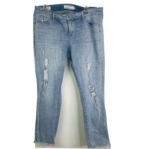 Torrid Women's Boyfriend Jeans Sz 16 Frayed Hem